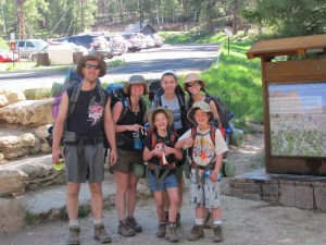 Grand Canyon Rim to Rim with kids: Off We Go Down the North Kaibab Trail in Grand Canyon National Park