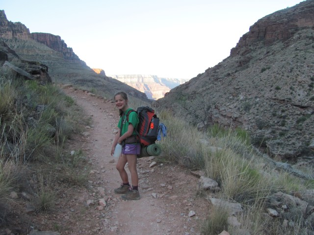 Grand Canyon Rim to Rim with kids:  Heading to Phantom Ranch in Grand Canyon National Park