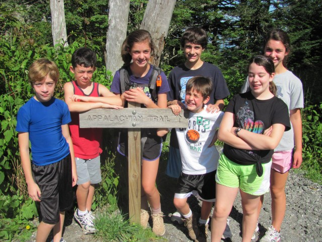 Our Hiking Group on the AT to Double Spring Gap Shelter