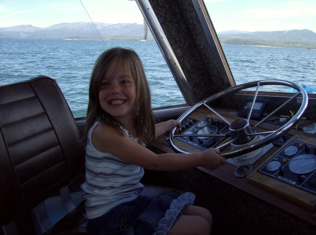 Captain Maya on the Jenny Lake Shuttle: Tent Cabin Camping in Grand Teton