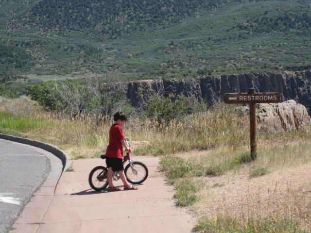 Biking in Black Canyon of the Gunnison