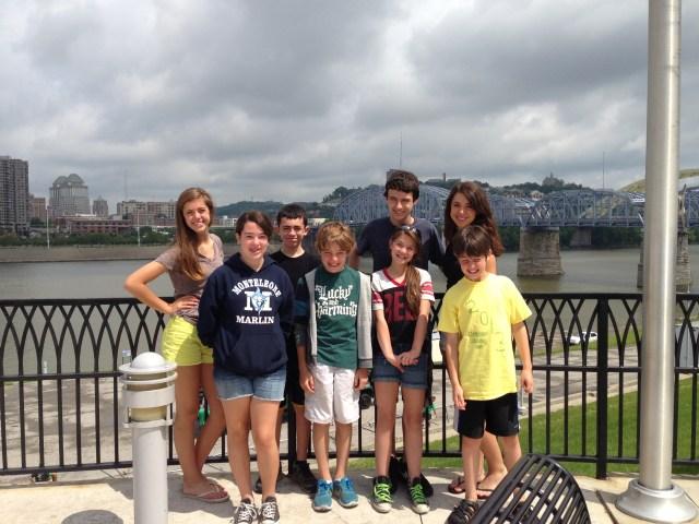 Walking tour of Cincinnati Newport on the Levee