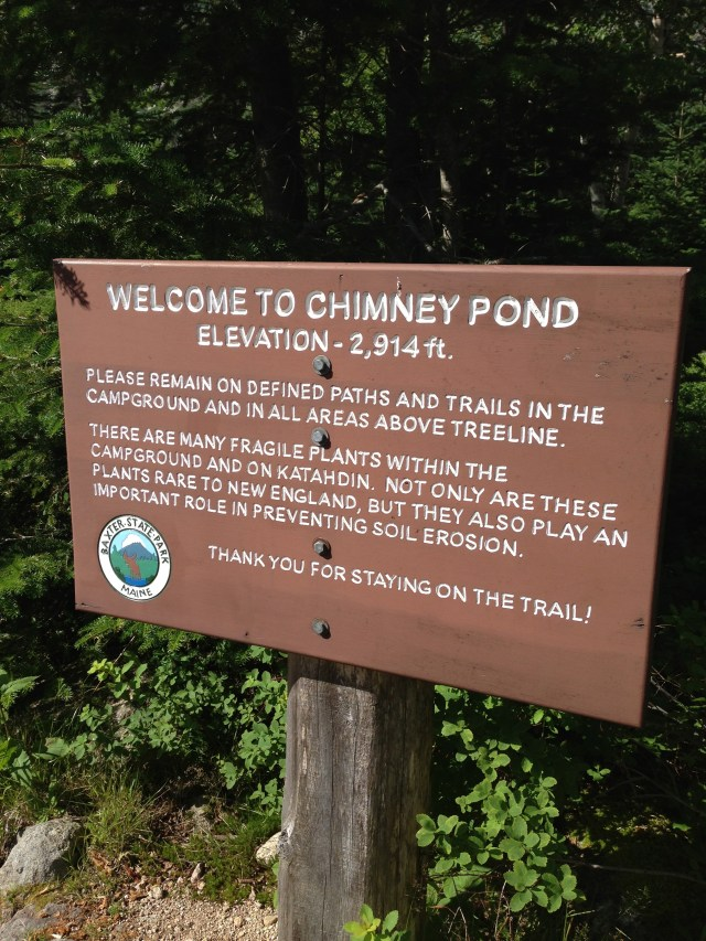Chimney Pond Trail in Baxter State Park