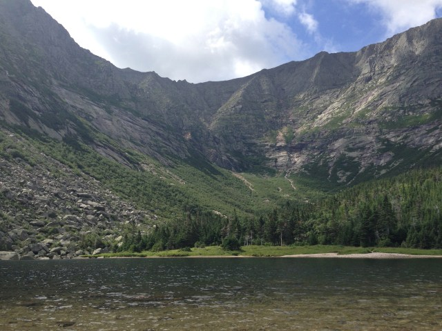 Chimney Pond in Baxter State Park