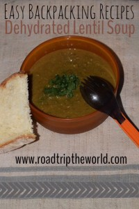Backpacking Recipes Dehydrated Lentil Soup