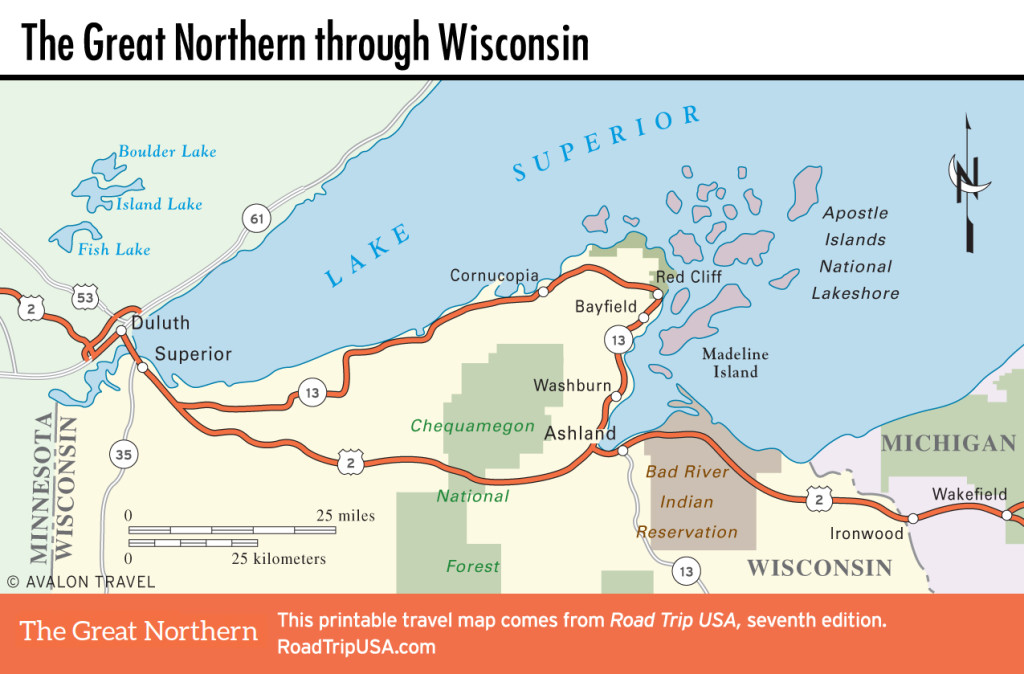 Road Map Northern Wi And