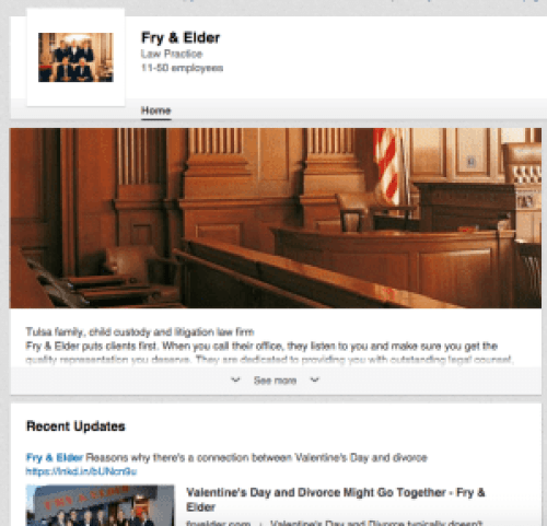 fry and elder linkedin page what social platform should I be on?