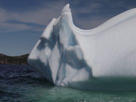 Iceberg that looked like a face, in Twillingate, Newfoundland, June 3, 2016. Photographed from a boat tour operated by Prime Berth's Captain Dave. Credit: Therese Kehler
