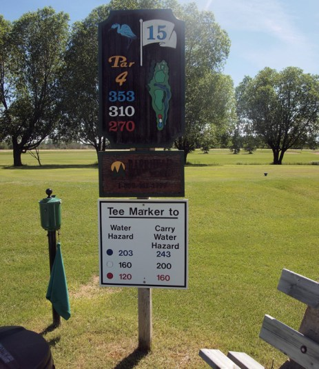 A little local knowledge can make a big difference. These signs at Barrhead Golf Course were much appreciated.