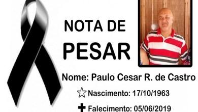 Prefeito emite nota de pesar pelo falecimento do policial civil Paulo Cesar Rebouças de Castro
