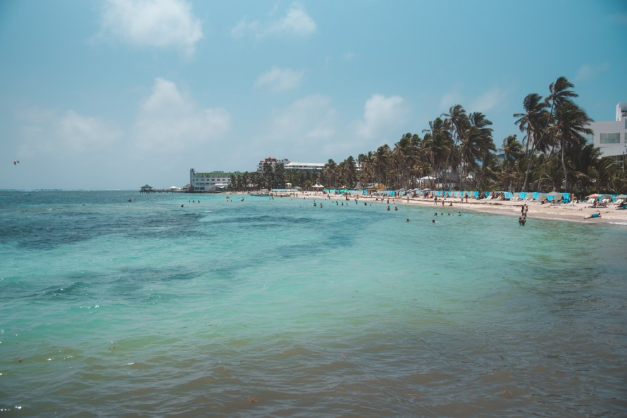 Beach in San Andres island, Colombia