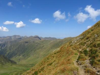 Walking towards Moldoveanu Peak