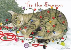 Decorating Cat Tis The Season Greeted Merry