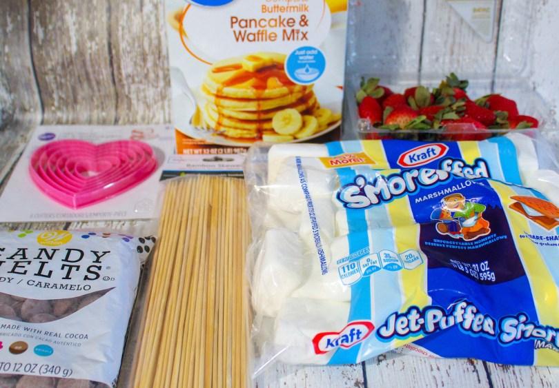 Heart-Pancake-Breakfast Skewers-ingredients