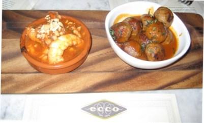 Ecco Shrimp with Fennel, Saffron Meatballs