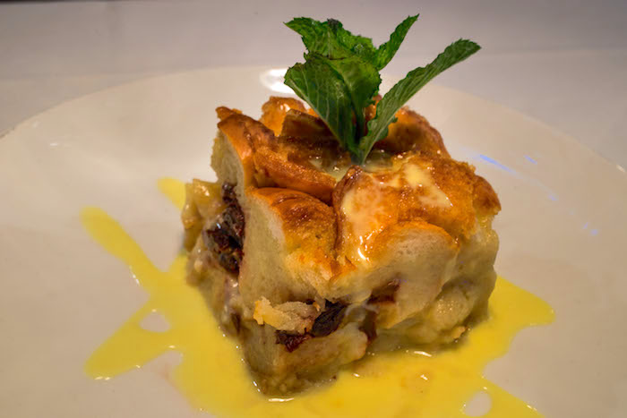 bread pudding from Hugos Oyster Bar