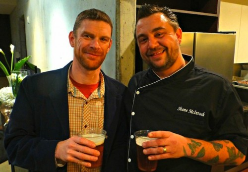 Chef Shane McIntosh (R) and Wild Heaven Craft Beer President, Nick Purdy (L)
