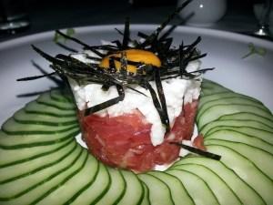 Amura tuna tataki appetizer