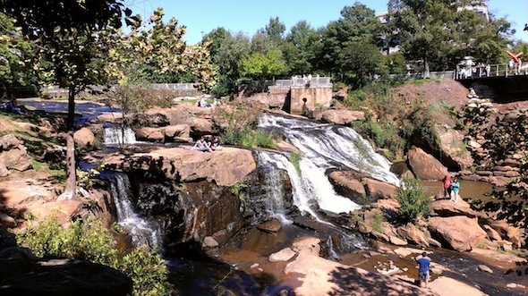 The Falls of the Reedy Downtown Greenville