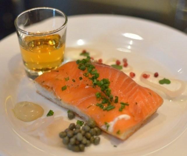 whiskey cured salmon cinebistro