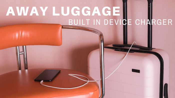 away Luggage built in charger