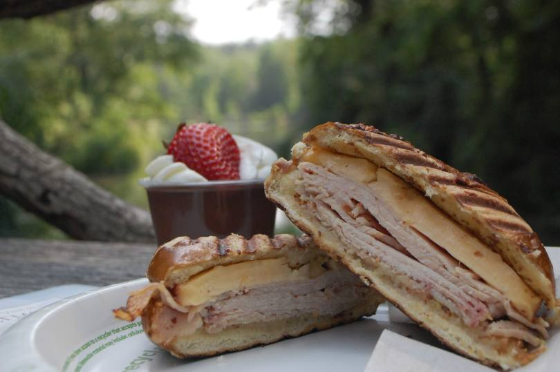 Well Bred Bakery and Cafe sandwich and dessert picnic at Biltmore