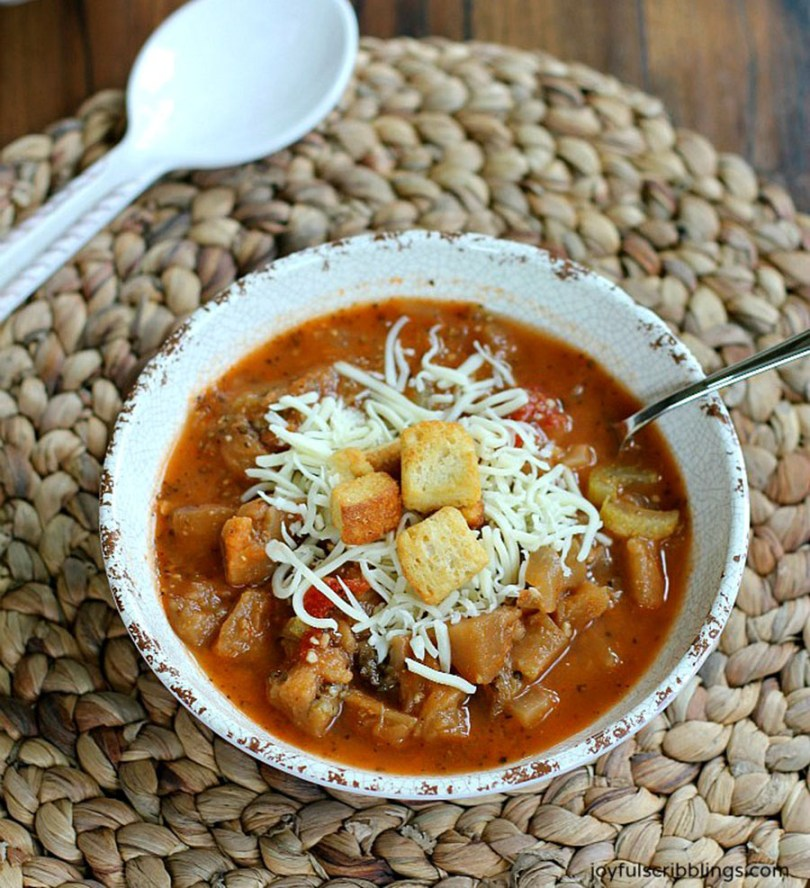 Eggplant Parmesan Soup Recipe