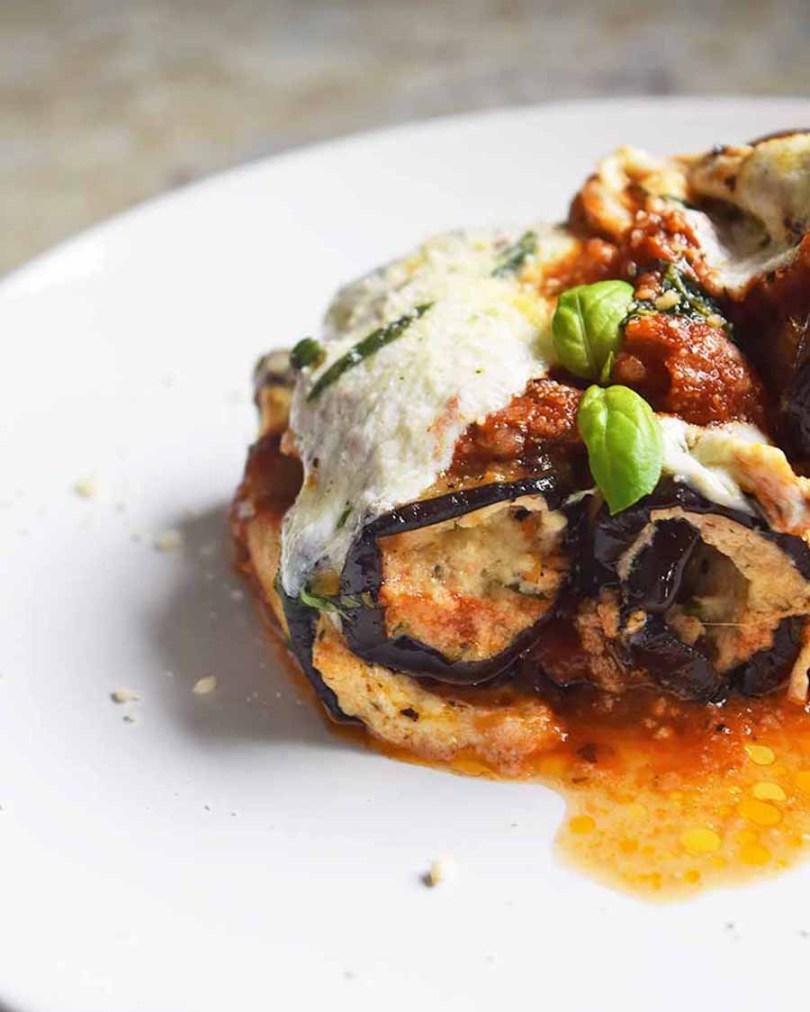 Grilled Eggplant Rollatini Recipe