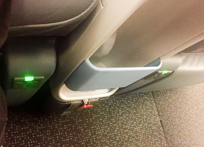 Singapore Airlines PVG SIN Premium Economy Each seat has a power plug