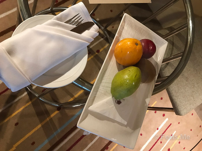 DoubleTree by Hilton Johor Bahru Welcome letter and fruit platter