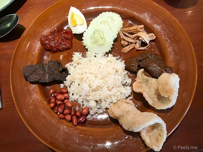 Hyatt Regency Kinabalu Breakfast Nasi Lemak with crackers