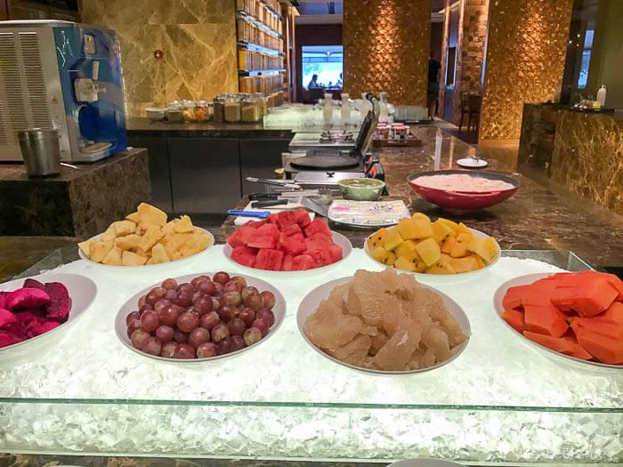 Hyatt Regency Kinabalu Breakfast Tropical fruits