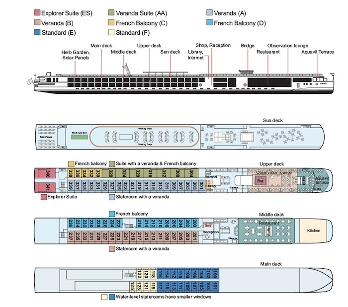 cruise ship diagram crx stereo wiring how to choose the right stateroom on a viking river cruises longship