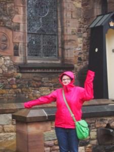A wet day at Edinburgh castle!