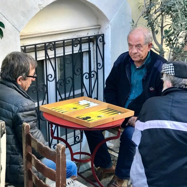 Backgammon in Plaka