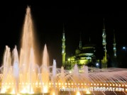 Beautiful mosque at night, Istanbul, Turkey