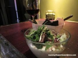 Quinoa salad with apple foam dressing!
