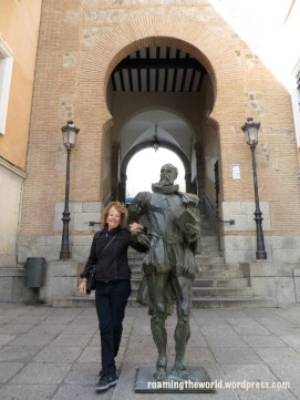 My mom and Cervantes, Toledo Spain