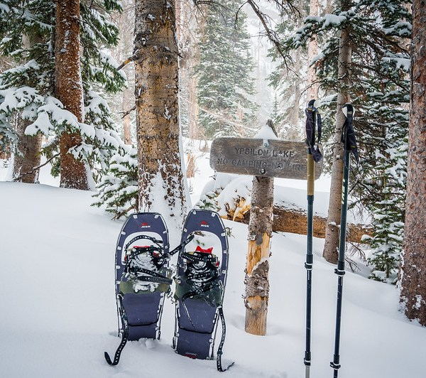 Ypsilon Lake Snowshoeing