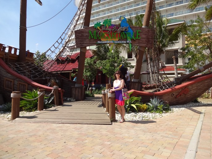 Me in front of Margaritaville restaurant.