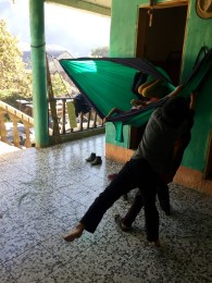 Kids playing with my hammock. One of their favorite activities
