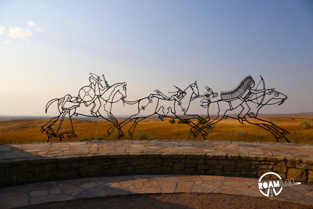 Memorial recognizing the tribal members who died both supporting Custer and defending their homeland.