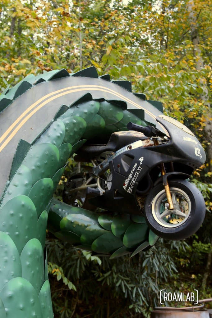 Sculpture along Tail of the Dragon on the Tennessee-North Carolina border