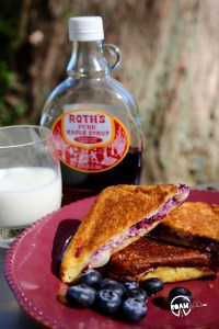 There is a day of adventure ahead of us, and it all starts with a little breakfast number that I like to call: Camper's Blueberry Almond French Toast.
