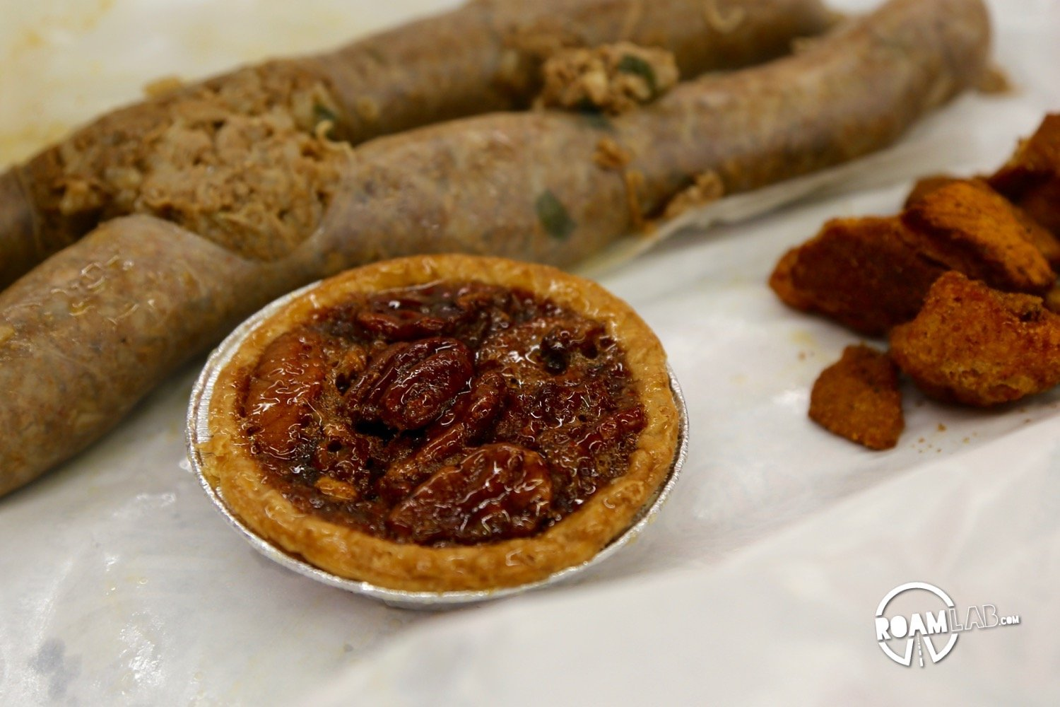It was late and we hadn't eaten when we filled up our tank in a town boasting of their boudin and cracklings. We shrugged our shoulders. Might as well try it.