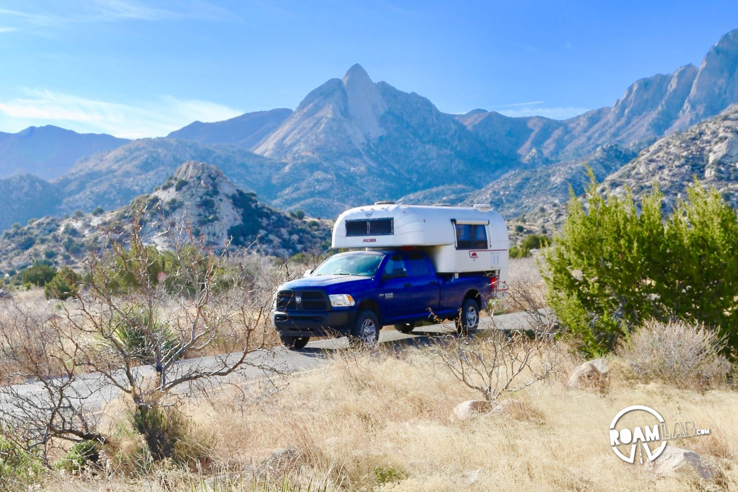 Leaving Aguirre Spring Campground
