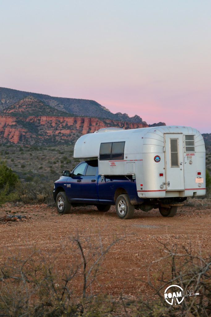 Like any tourist destination, finding a place to stay is a challenge. Most campgrounds are booked out in advance. But, if you have 4-wheel drive and a willingness to rough it without facilities, there are undeveloped campsites with amazing vistas along Forest Road 525C.