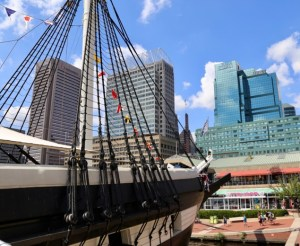 USS Constellation in the Baltimore Harbor