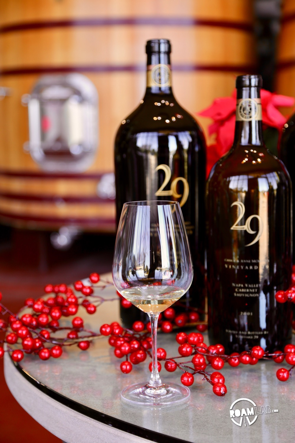 The consistently 90+ rated wines from Vineyard 29 are the product not only of prime location in Napa Valley but highly advanced technology.