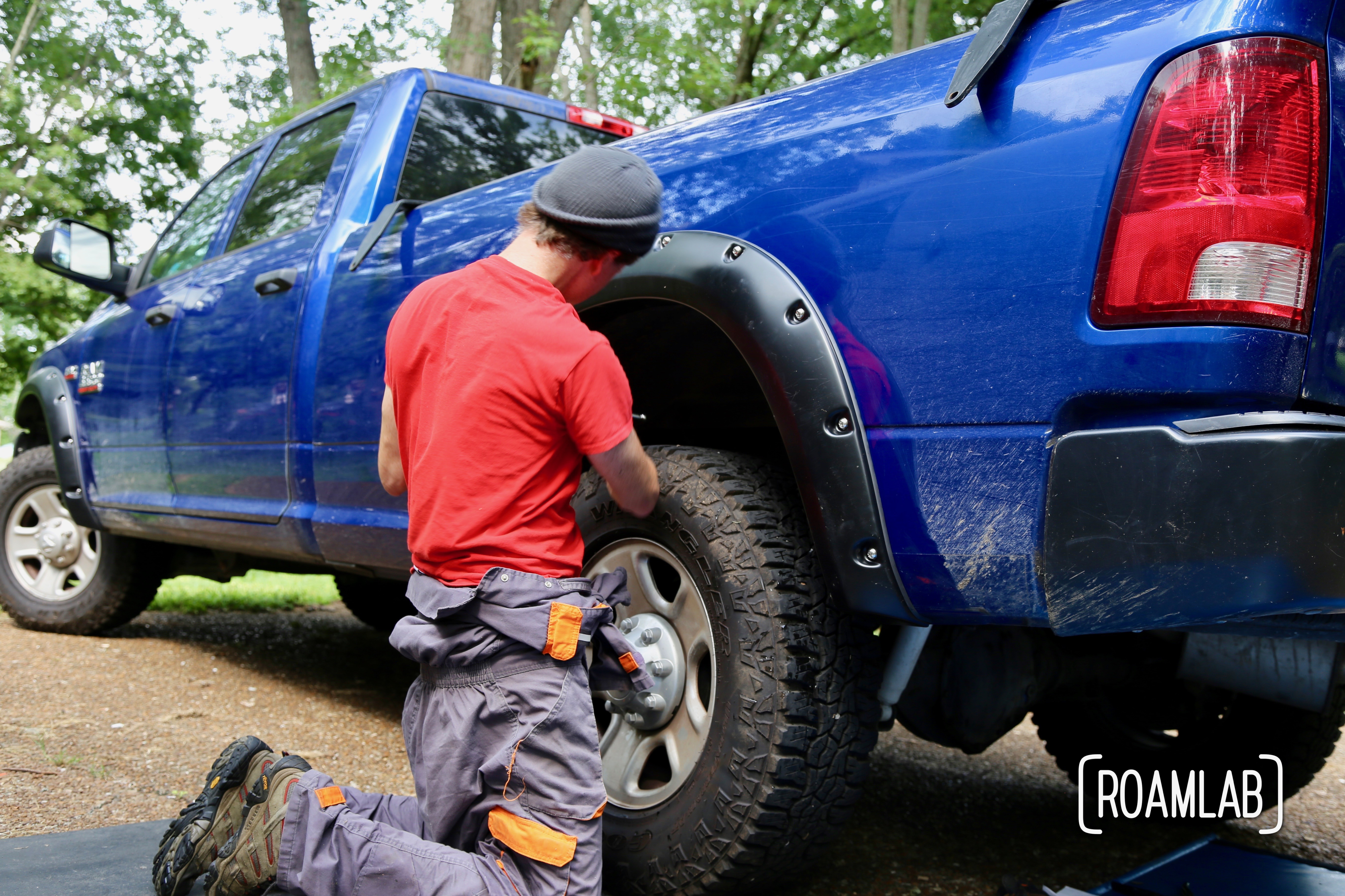 """Upgrading our overland rig with """"do it yourself"""" installation of Bushwacker Fender Flares on a 2015 Ram 3500."""